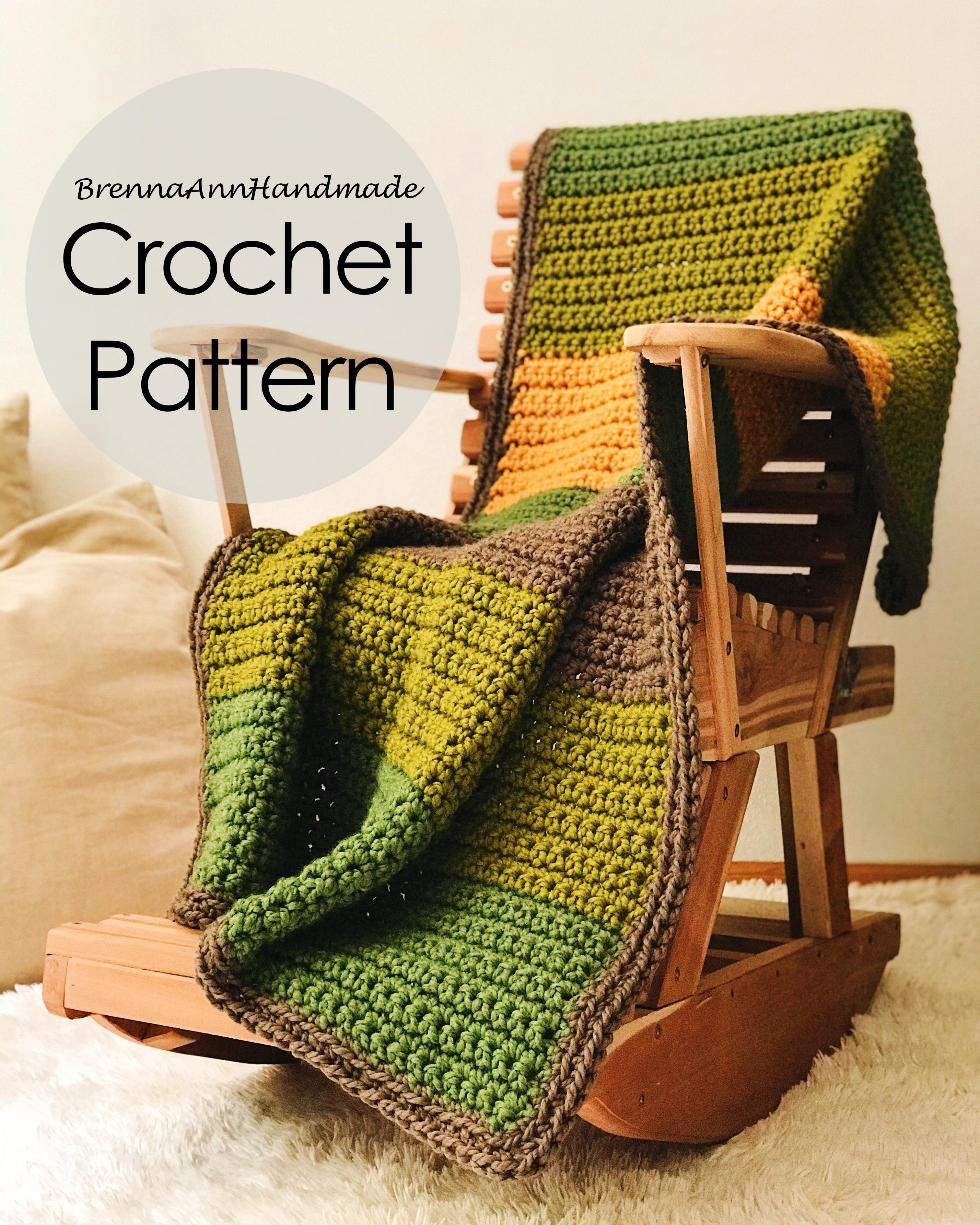 Wicker Afghan Crochet Pattern  Afghan Throw Crochet Pattern PDF Instant Download