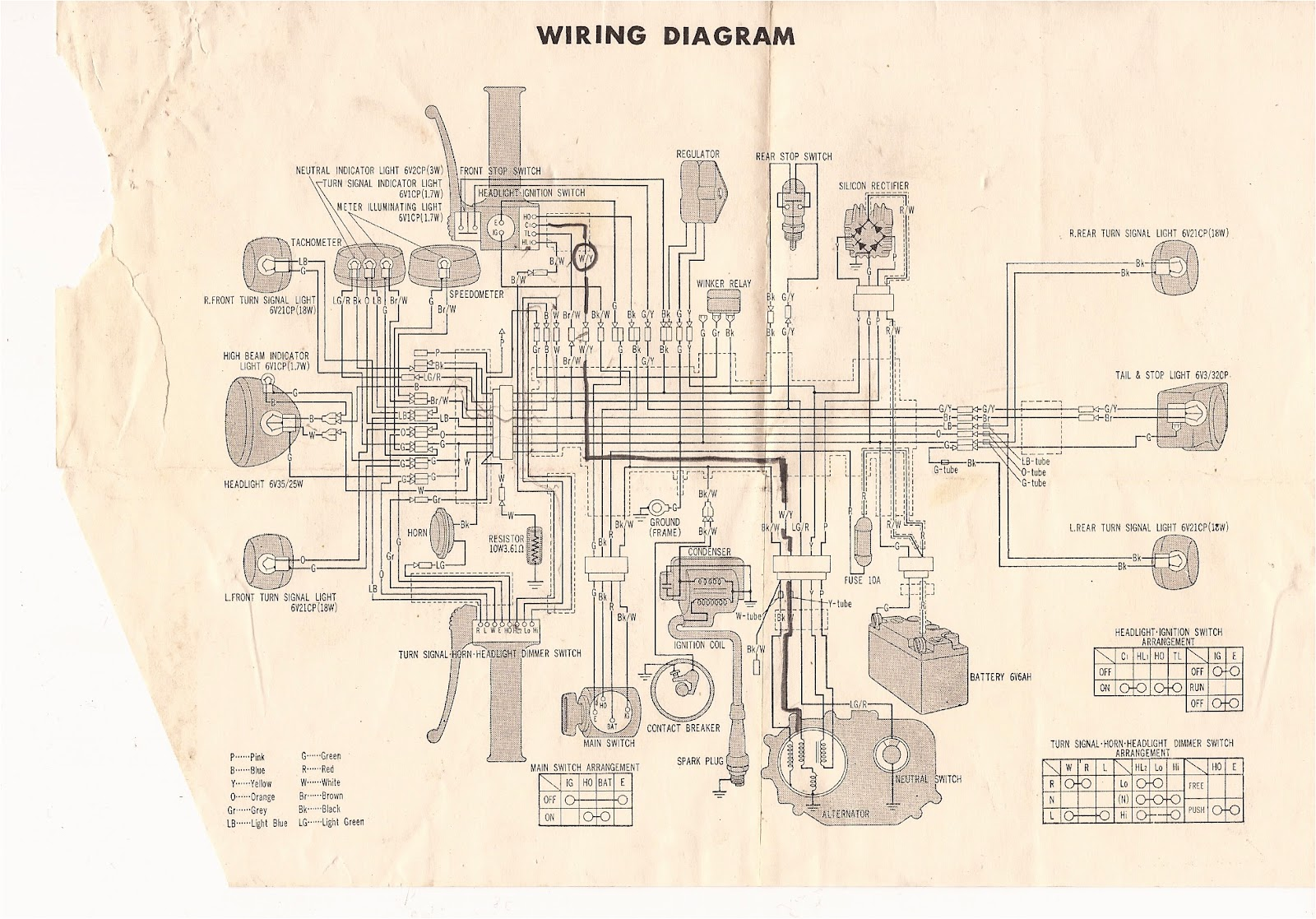 Xr650l Headlight Wiring Diagram Schematic Diagrams 1993 Honda Ct70 Free Download Colored