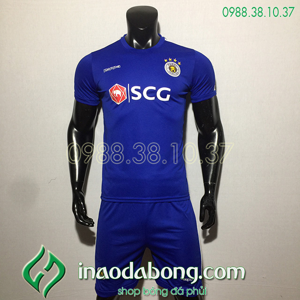 Áo bóng đá câu lạc bộ hà Nội màu xanh 2020