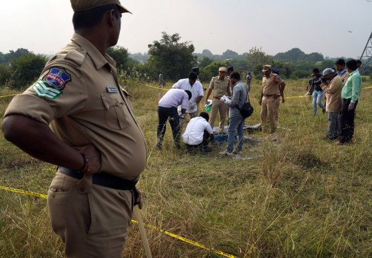 Four rapists shot dead by police in India after taking them to scene of sex attack
