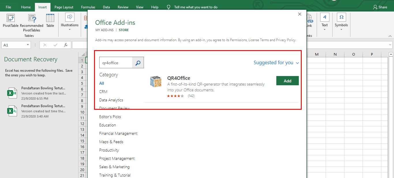 Membina QR Code Menggunakan Microsoft Excel