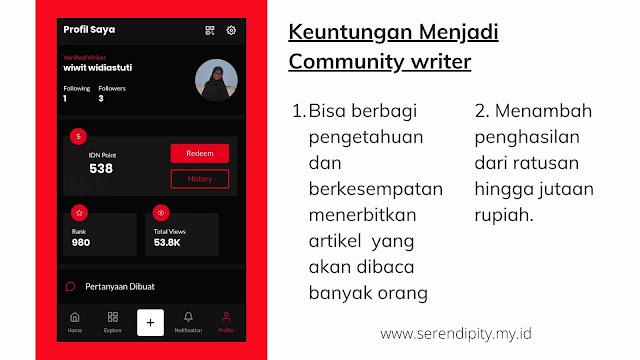 community writer IDN App