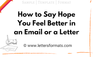how to write in email hope you are doing well