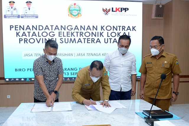 Pemprov Sumut Gelar Penandatanganan  Kontrak Katalog Elektronik Lokal