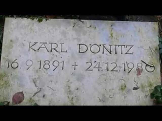 Karl Dönitz tombstone, Third Reich graves worldwartwo.filminspector.com