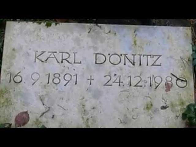 Karl Dönitz tombstone, Third Reich graves worldwartwo.filminspector.com