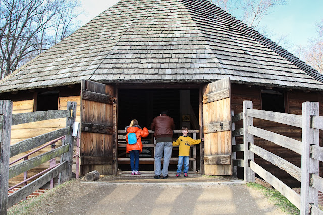 George Washington's wheat processing barn