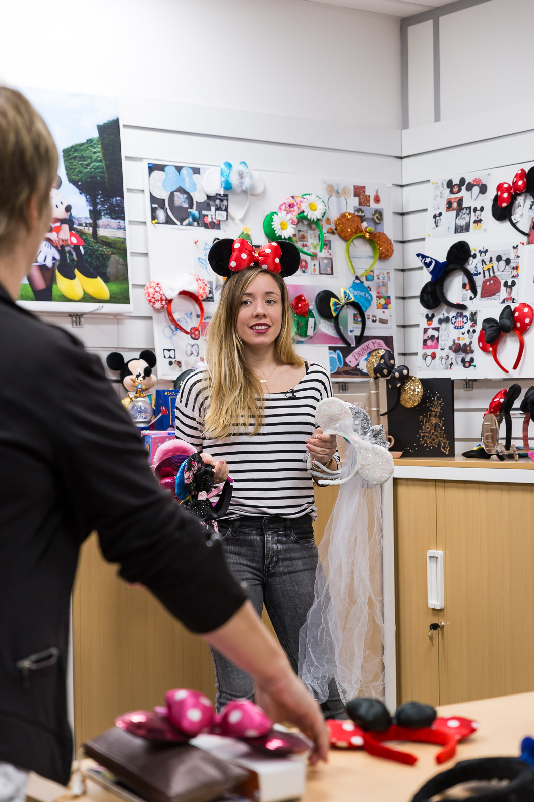 Coulisses DisneyLand Paris oreilles Minnie