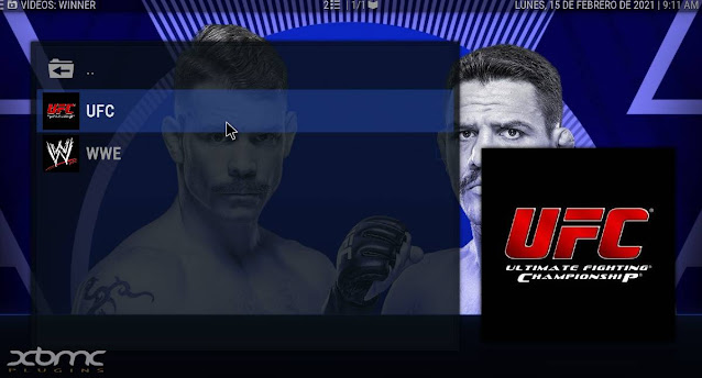 UFC addon kodi enlaces