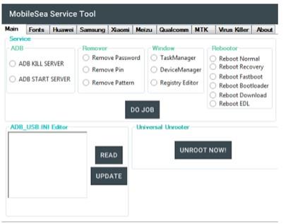 Mobile sea service tool