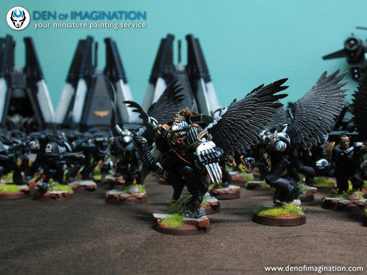 4ef6ce80dcfa The Raven Guard in all it s glory. Full army shots. You can find more  photos on our flicker page and on the previous blog posts.