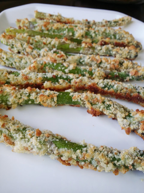 Baked asparagus fries from The Thrifty Couple; used with permission.