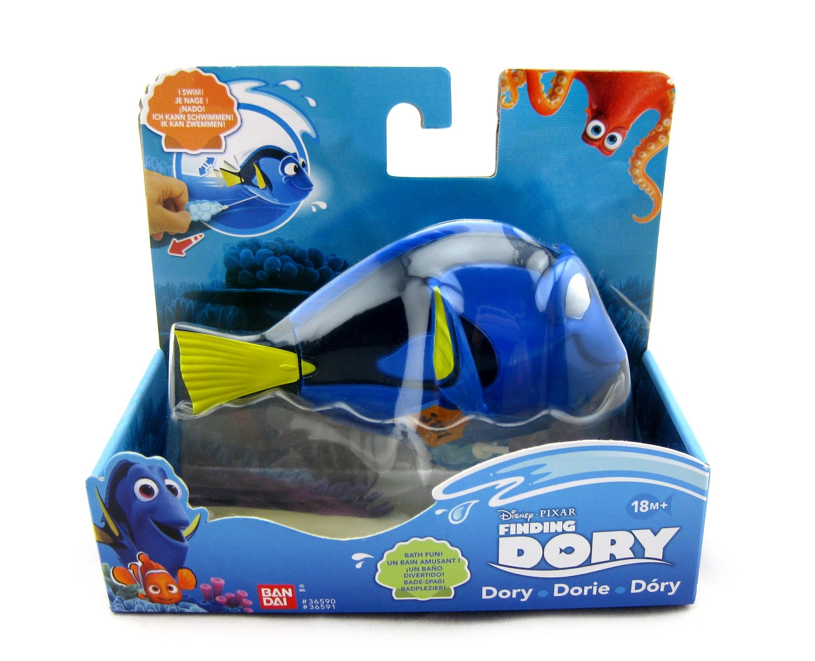 dan the pixar fan finding dory swimming bath toys collection from