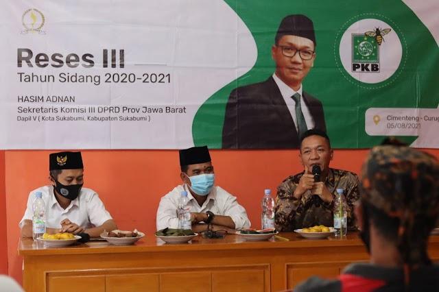 Hasim Adnan Gelar Reses III di  Desa Cimenteng Sukabumi