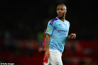 Raheem Sterling Reacts to White Lives Matters Banner Seen Above Etihad Stadium