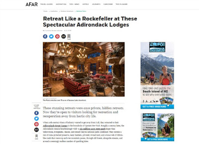 Afar: Retreat Like a Rockefeller at These Spectacular Adirondack Lodges
