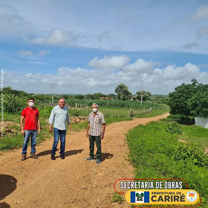 Prefeito Antônio Martins vistoria as estradas vicinais de Cariré