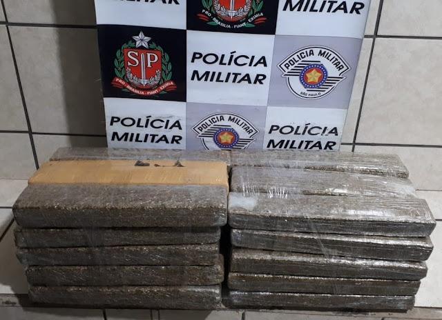 Força Tática apreende 26 kg de maconha e detém quatro pessoas em Presidente Venceslau