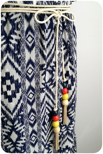 Bohemian-Chic Tassel Rope Belt Tutorial