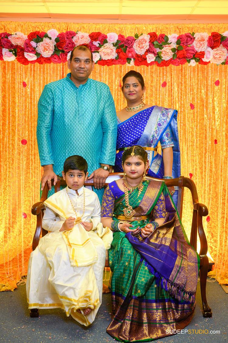Saree and Dhoti Ceremony Photography by Ann Arbor Novi Indian Hindu Event Photographer