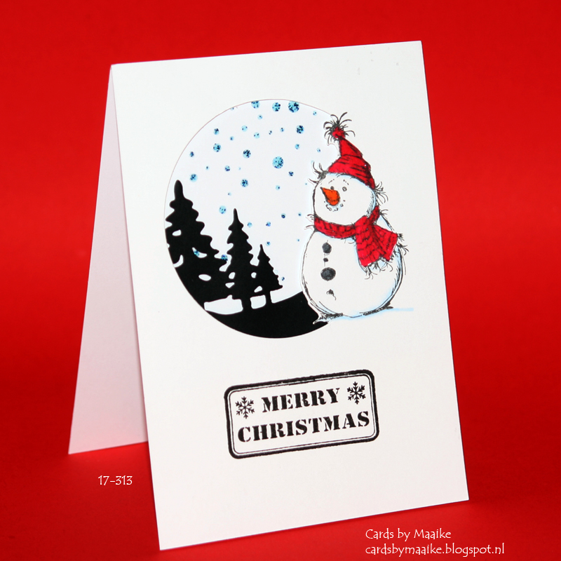 Everday Christmas Card Series #17  Partial Diecutting (gone Wrong), With  Video