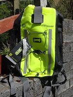 waterproof camping bag on wall