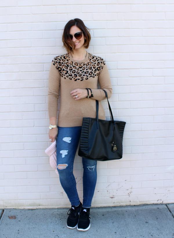 handmade jewelry, sarahndipity, leopard sweater,