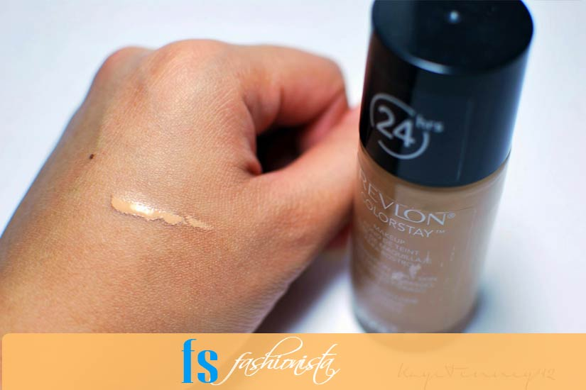 Testing on skin: Revlon Colorstay Warm Golden foundation