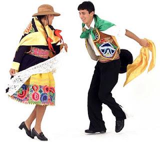 Pareja de baile de la danza Huaylarsh