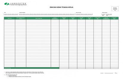 Cara Mengisi Formulir Bpjs Ketenagakerjaan Excel 1a 1b 2 Dan 2a