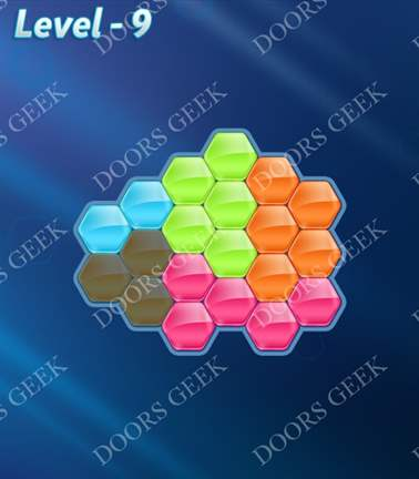 Block! Hexa Puzzle [Rainbow A] Level 9 Solution, Cheats, Walkthrough for android, iphone, ipad, ipod