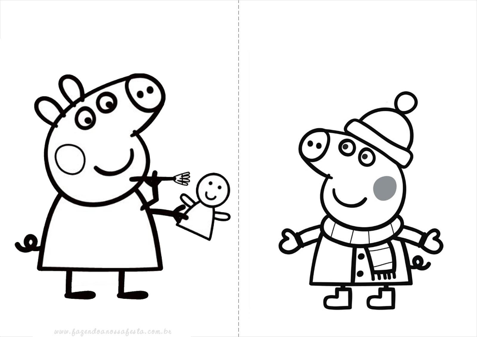Dibujos De Peppa Para Colorear E Imprimir: Blog MegaDiverso: Peppa Pig Para Imprimir Y Colorear