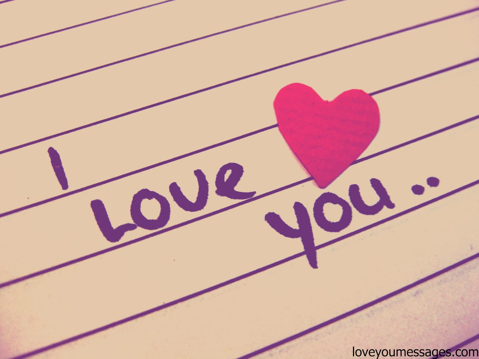 I love you her