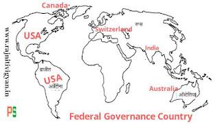 संघात्मक शासन व्यवस्था वाले देश