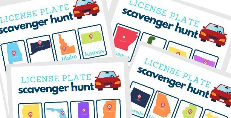 license plate scavenger hunt for kids