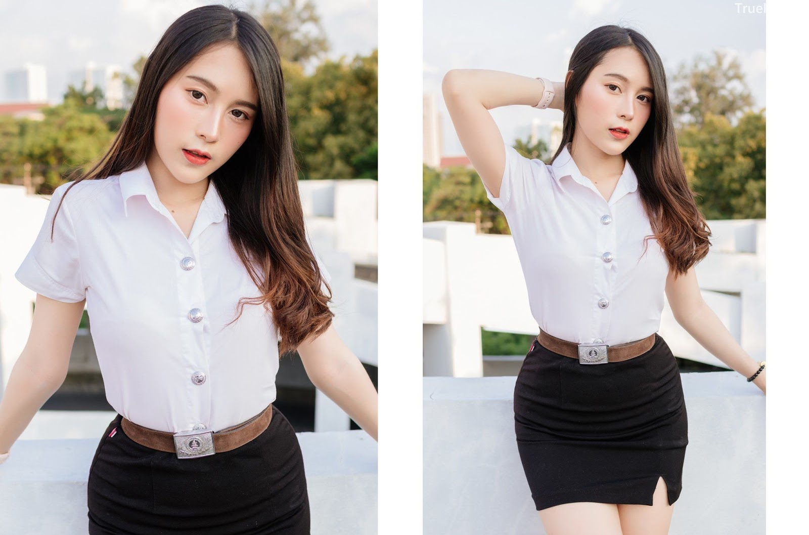 Thailand young model Lin Lee Hong with photo album Lovely Student - Picture 8
