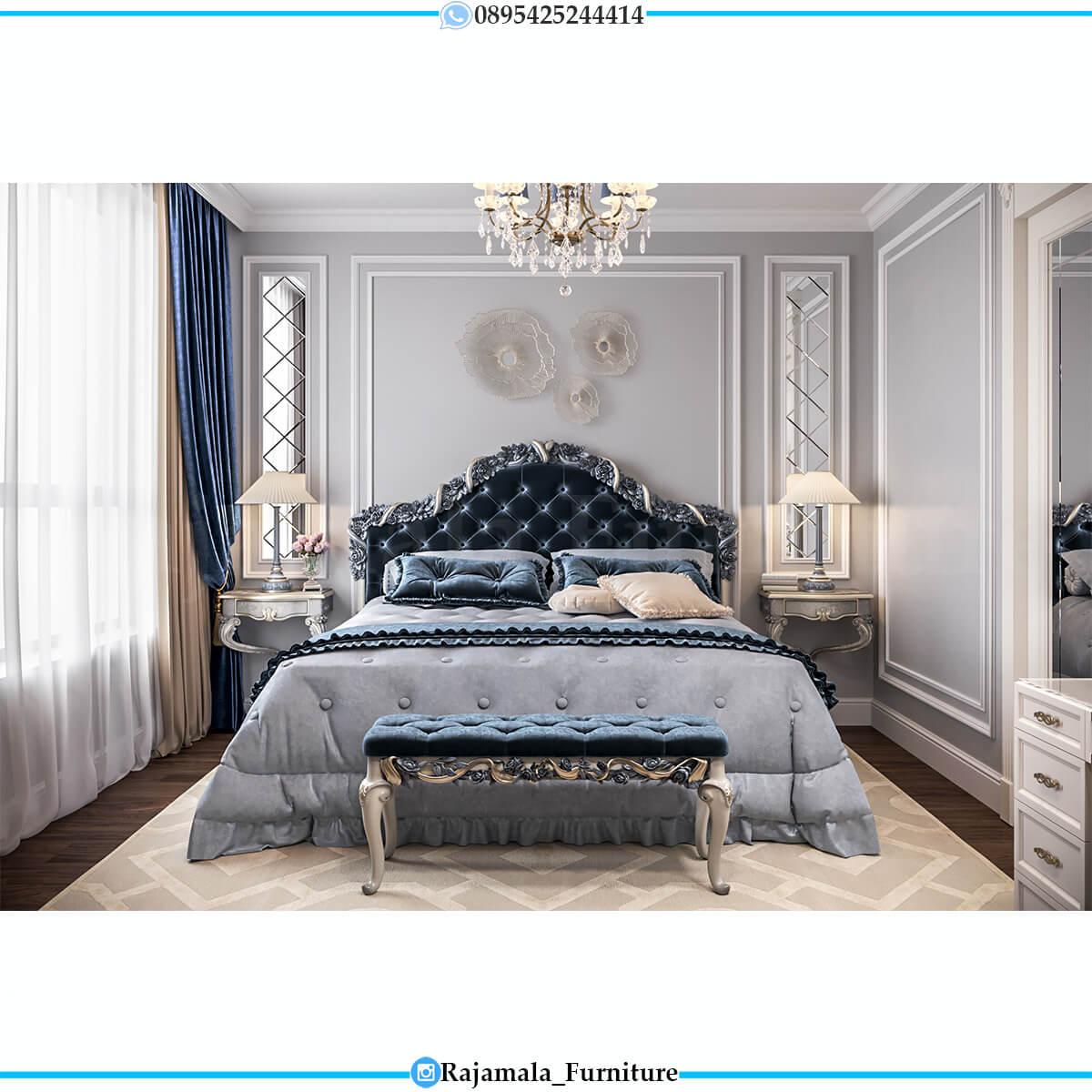 New Desain Tempat Tidur Mewah Ukir Jepara Elegant Luxury Classic RM-0706