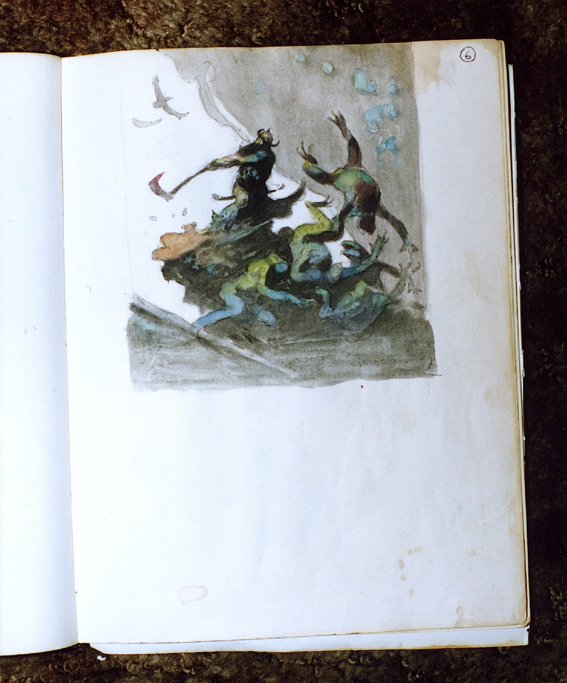 1980 National Cartoonists Society Great Painted Print By Frank Frazetta Bronze Age (1970-83)