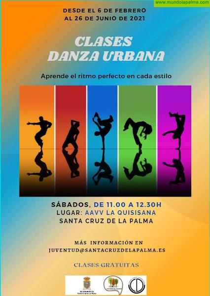 El Ayuntamiento de Santa Cruz de La Palma reanuda las clases gratuitas de danza urbana