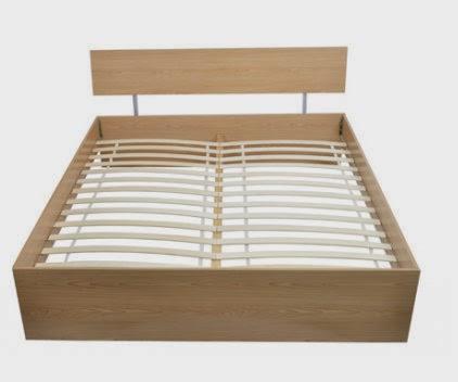 decco interieur lit futon moderne en bois brun fonc ou claire 140 x 200. Black Bedroom Furniture Sets. Home Design Ideas