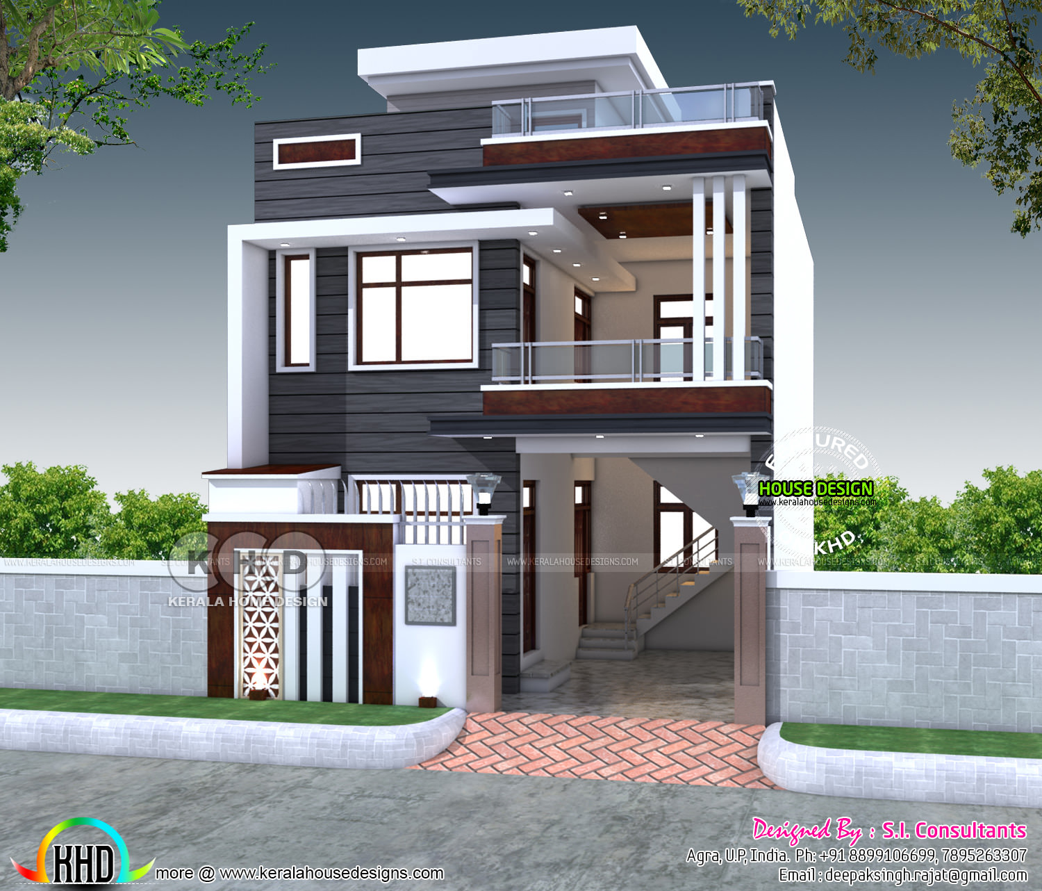 2200 Sq Ft 4 Bedroom India House Plan Modern Style Kerala