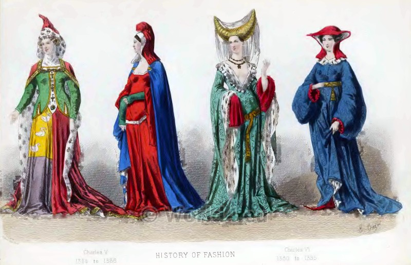 Middle ages clothing for women