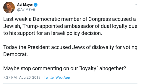 Jewish groups: Trump spreads anti-Semitic trope by accusing Jews of 'disloyalty' Disloyalty2