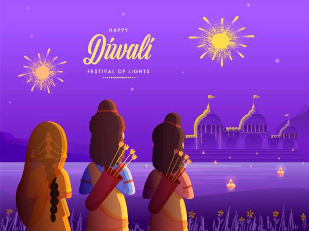 happy diwali images ram