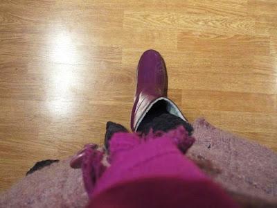 foto como usar botas de lluvia