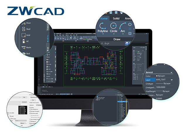 ZWCAD Aplikasi CAD Terbaik