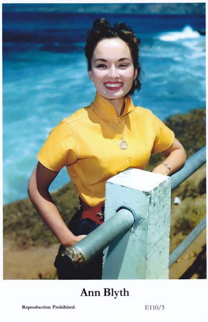 Ann Blyth - postcard