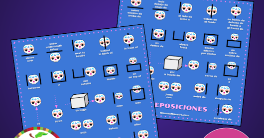 Free Calavera Prepositions Graphic