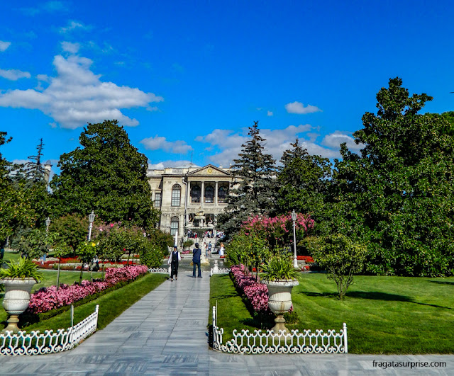 Jardins do Palácio de Dolmabahçe, em Istambul