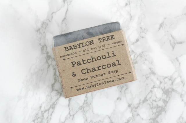 Babylon Tree Patchouli and charcoal natural vegan soap